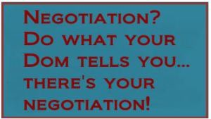 negotiation box